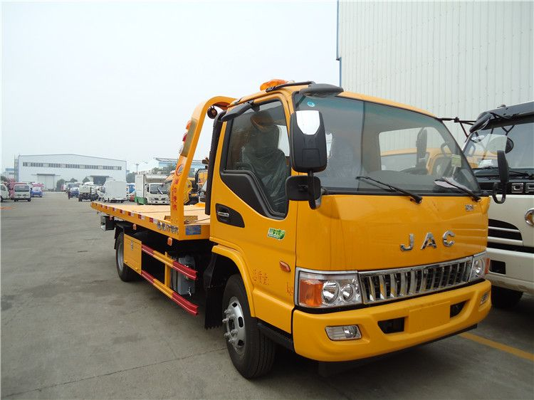 JAC flatbed wrecker towing truck
