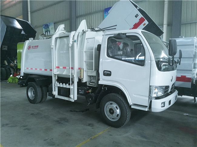 DFAC 5cbm self loading garbage truck